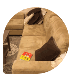清空沙發表面範例