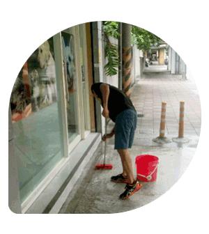 社區大樓-騎樓走道清潔