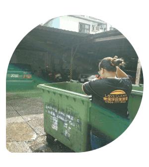 社區大樓-垃圾收集桶清潔