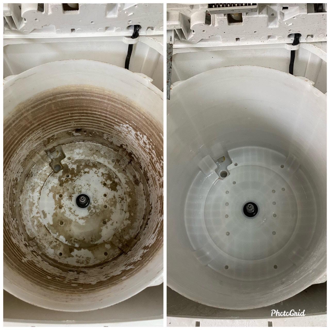 洗衣機清洗前後差異圖